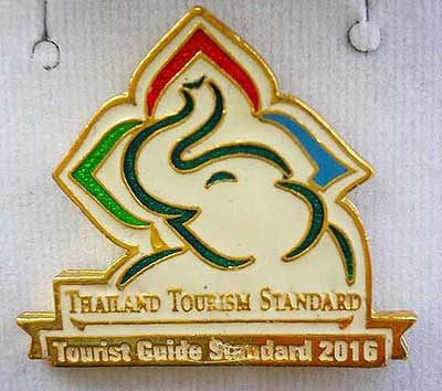 "Alex Holiday has been assessed and awarded ""Tourist Guide Standard 2016"""